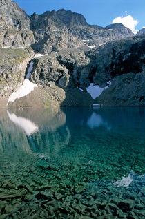 Still Puyvachier Lake near La Meije Glacier von Sami Sarkis Photography