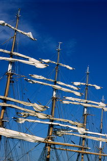 Mast of a Russian sailing ship (Sedov) docked in Marseille by Sami Sarkis Photography