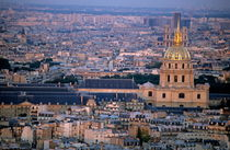 City buildings at sunset as seen from the Arc de Triomphe  including Les Invalides by Sami Sarkis Photography