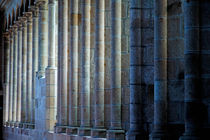 Row of columns forming the wall of the monastery von Sami Sarkis Photography