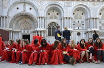 Teenager girls from a UK choral group by Sami Sarkis Photography