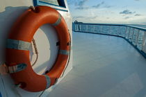 Maldives rescue buoy on a boat middle deck by Sami Sarkis Photography
