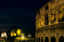 Colosseum illuminated at night and the forums by Sami Sarkis Photography