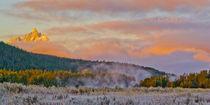 Sunrise over Tetons von Barbara Magnuson & Larry Kimball