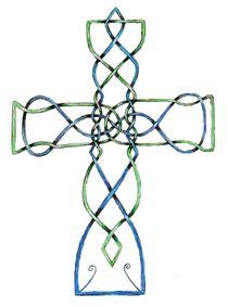 Original Celtic Knotwork Cross von c-nick