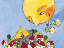 Der Mond fährt in den Zirkus by Evi Gasser