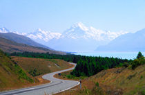Mount Cook Highway South Island New Zealand by Kevin W.  Smith