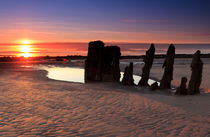 Ardrossan Wreck Beach Sunset von Paul messenger