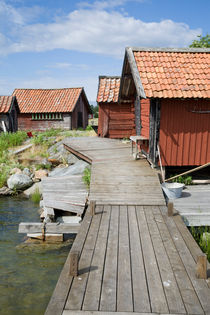Fisherman's huts in the Archipelago of Stockholm, Sweden by kbhsphoto