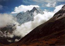 Nepal - Annapurna Himal,  Tron der Götter Machapuchare von Karel Plechac