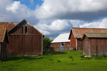 Out-buildings of small farm in Roslagen, Sweden by kbhsphoto