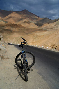 Mountain Biking down from Khardung La von serenityphotography