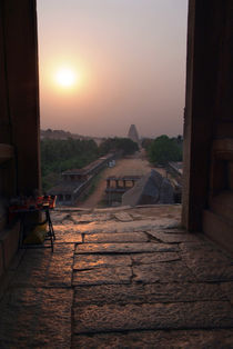 Sunset Over Hampi Bazaar by serenityphotography