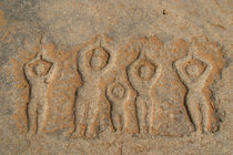 Carved Figures in the Rock Hampi by serenityphotography