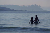 Couple in the Sea Palolem by serenityphotography
