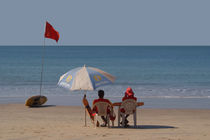 Life Guards on Palolem Beach von serenityphotography