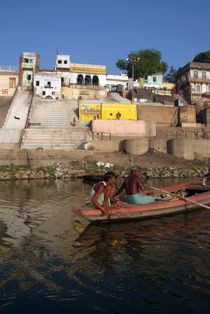 Two Men in a Boat by Nishradraj Ghat von serenityphotography