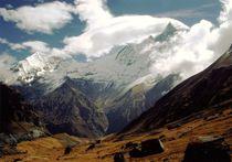 Nepal - Annapurna Himal, Wolken um Machapuchare von Karel Plechac