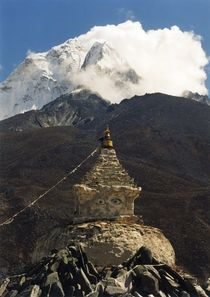 Nepal - Khumbu Himal, Ama Dablam, Stupa von Dingboche by Karel Plechac