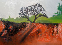 Country landscape (bush on fire) by Sarah K Murphy