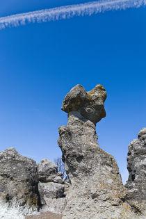 Seastacks, limestone formations, in Folhammar, Gotland, Sweden by kbhsphoto