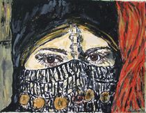 Veiled Bedouin Woman by Rosalind Deuters Smith