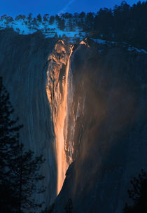 Firefall, Yosemite National Park by Debra  Carr Brox