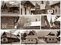 Cottages in Pribylina Collage by Tomas Gregor