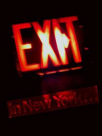 Exit in New York von blackscreen