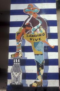SANDINO AND UNCLE SAM Leon Nicaragua von John Mitchell