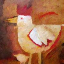 Huhn und Kücken von Lutz Baar