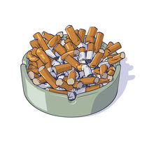 Busy ashtray by Miguel Herranz