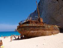 Griechenland Greece Zakynthos Wrack Schiff von Andreas Jontsch
