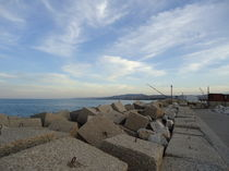 Pier with rocks by Azzurra Di Pietro