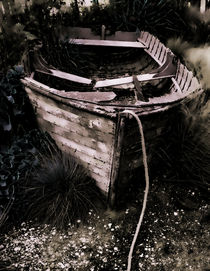 Dilapidated old boat von deanmessengerphotography