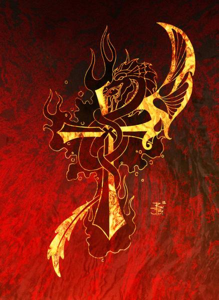 Dragonscrossred