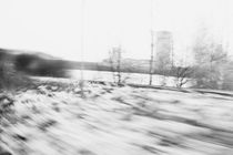 Black and white view from a train von Liselotte la Cour