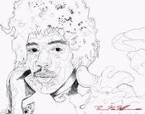 Jimi Hendrix  by Brian MacMillan