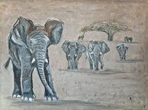 Die Elefantenherde von Annett Tropschug
