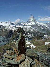 Der Steinmann und das Matterhorn by Karel Plechac