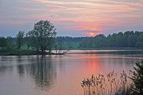 Sunset at Willen Lake by Dan Davidson