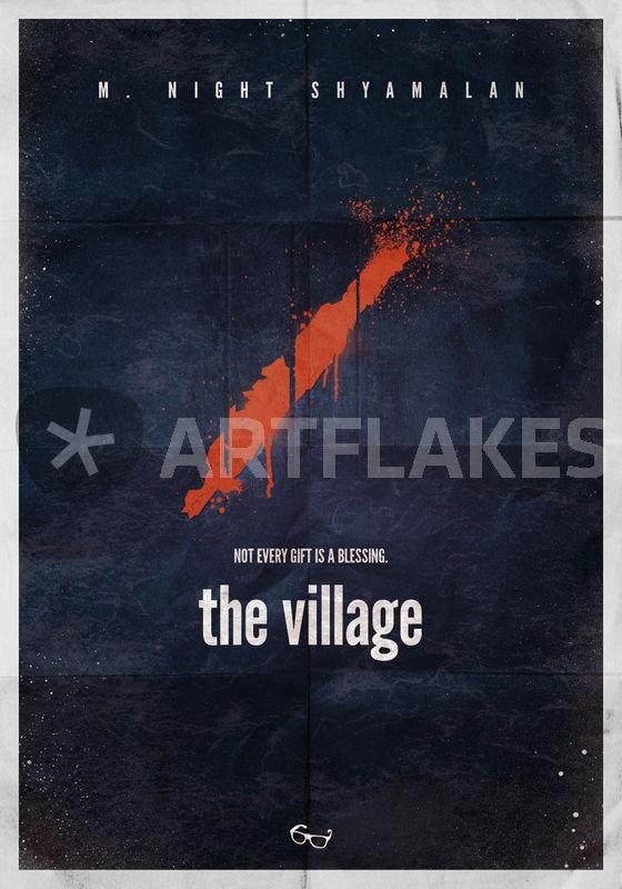quotm night shyamalan the village minimal movie poster