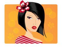 Portrait of a beautiful girl by bluelela
