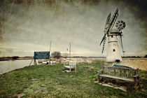 A textured Thurne Mill by Stephen Mole
