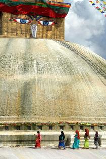 Circumambulating the Stupa Boudha by serenityphotography