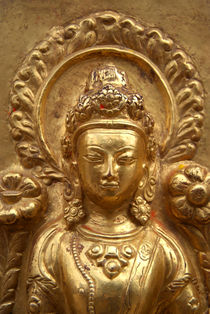 Gilded Buddha Image Swayambhu von serenityphotography