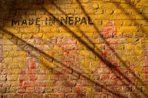 Made in Nepal on Wall von serenityphotography