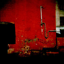 Red wall by Sonya Percival