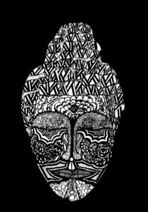 Buddha in Black & White by Lindsay Kokoska
