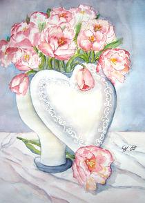 Tulpen mit Herz von Christine  Hamm